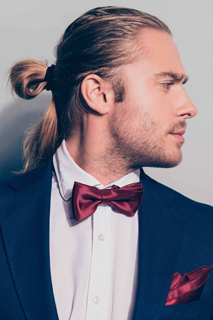 Man Bun #weddinghair #weddiunghairstyles #weddinghairmen