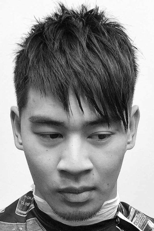 Side Sweprt Layered Bang #asianhair #hairtype #hairtypemen
