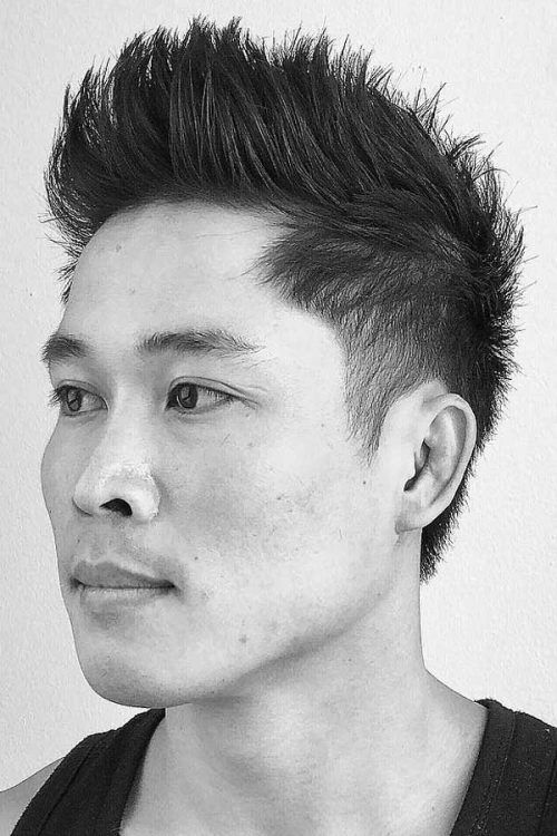 Brushed Up Spiky Hair #asianhair #spikedhair #spikes #hairtype #hairtypemen