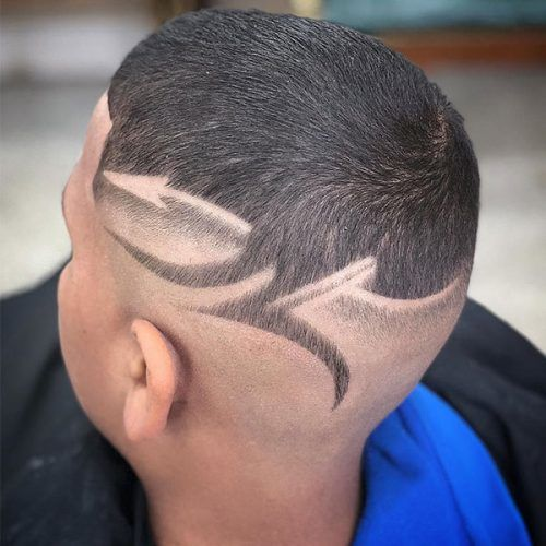 Arrow Design #haircutdesign