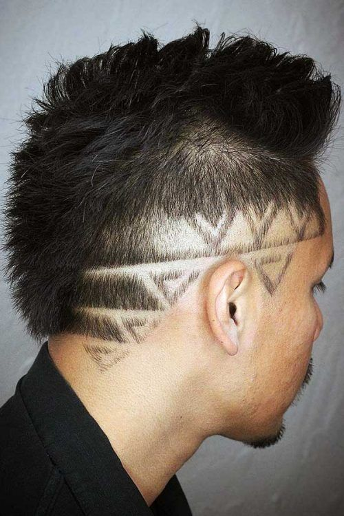 Triangles Design #haircutdesign