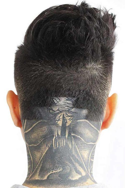 Head Tattoo #haircutdesign