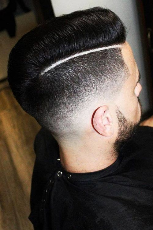 A Hard Part With A Short Pompadour #rockabillyhairmen #menshairstyles
