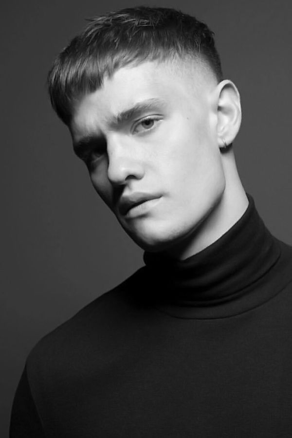Blunt Fringe With Skin Fade #straighthair