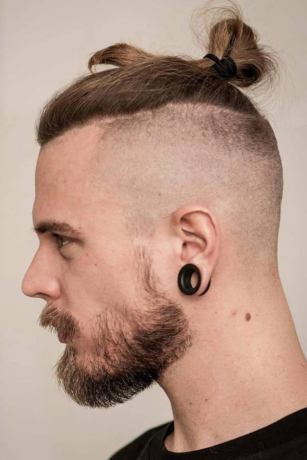 Top Knot With Beard #undercut #longhair