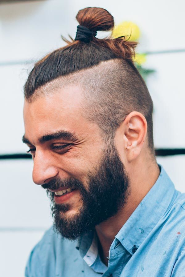 Top Knot #undercut #longhair #haircuts #menhaircuts