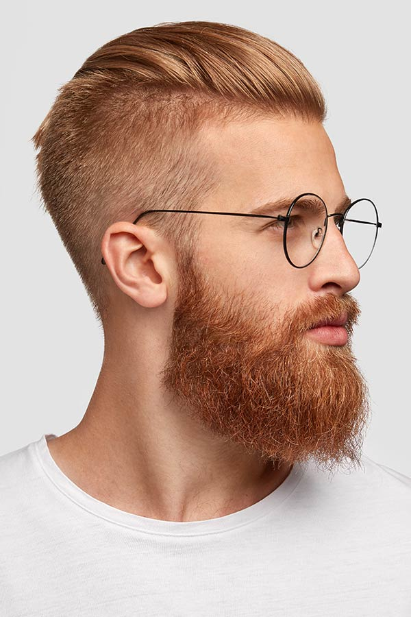 Red Top Full Beard #undercut #longhair #haircuts #menhaircuts