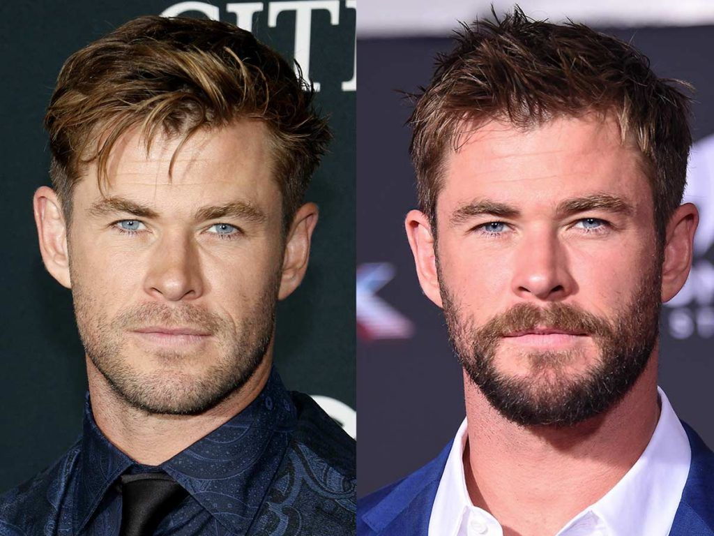 Chris Hemsworth #facialhair #beard #beardtranformation