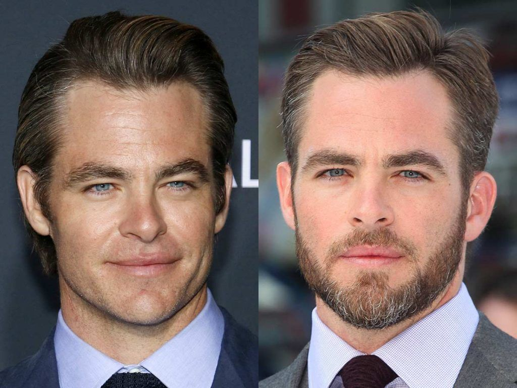 Chris Pine #facialhair #beard #beardtranformation
