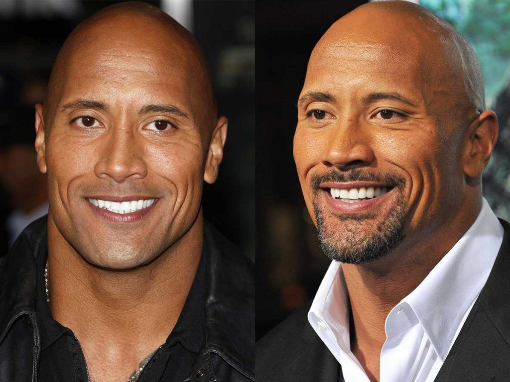 Dwayne The Rock Johnson Facial Hair Styles #facialhair #beard #beardtranformation