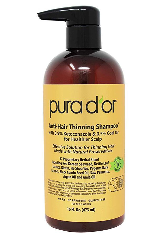 Pura D'or Original Gold Label Anti-Thinning Shampoo #hairlossshampoo