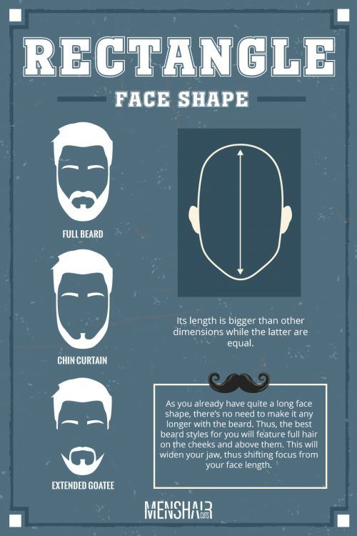 What Facial Hairstyle Matches A Rectangular Face Shape?