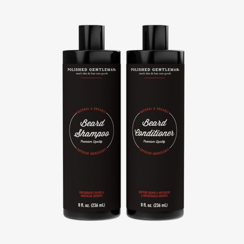 Beard Growth And Thickening Set (Polished Gentleman) #beardshampoo