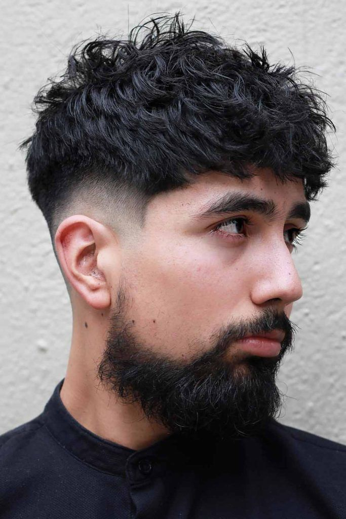 Messy, Curly And Faded #menshairstyles #hairstylesformen