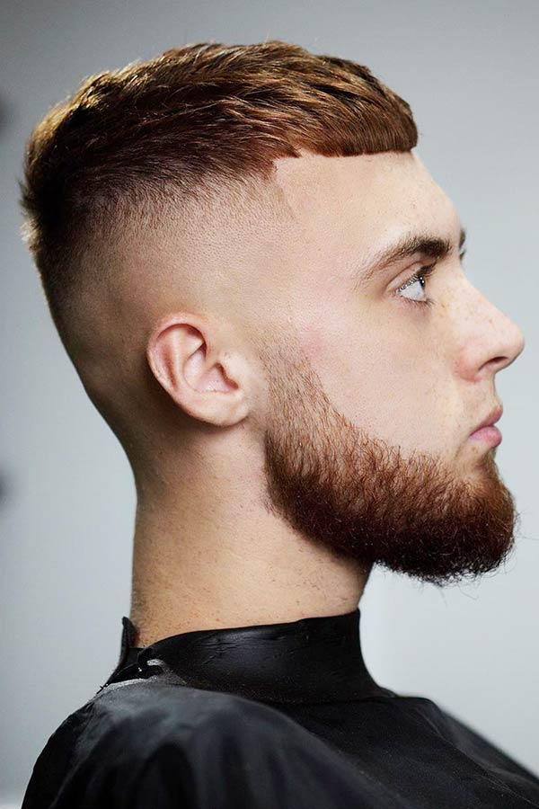 Crew Cut With High Fade And Beard #menshairstyles #hairstylesformen