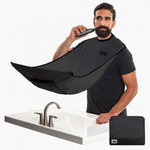 The Beard Bib Hair Clippings Catcher Black (Deluxe Version) (Beard King)  #fathersdaygifts #lifestyle