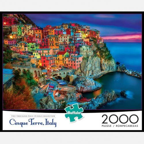 Cinque Terre Italy 2000 Piece Jigsaw Puzzle (Buffalo Games) #fathersdaygifts #lifestyle