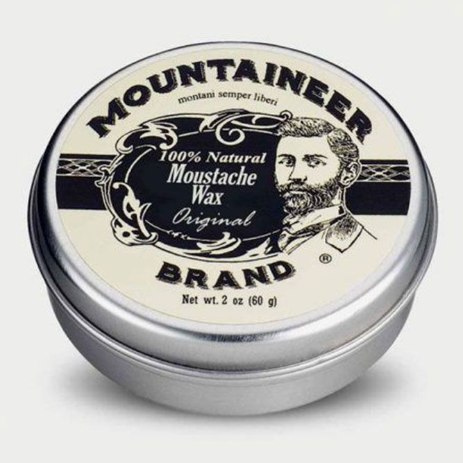 Natural Moustache Wax (Mountaineer Brand) #straightbeard