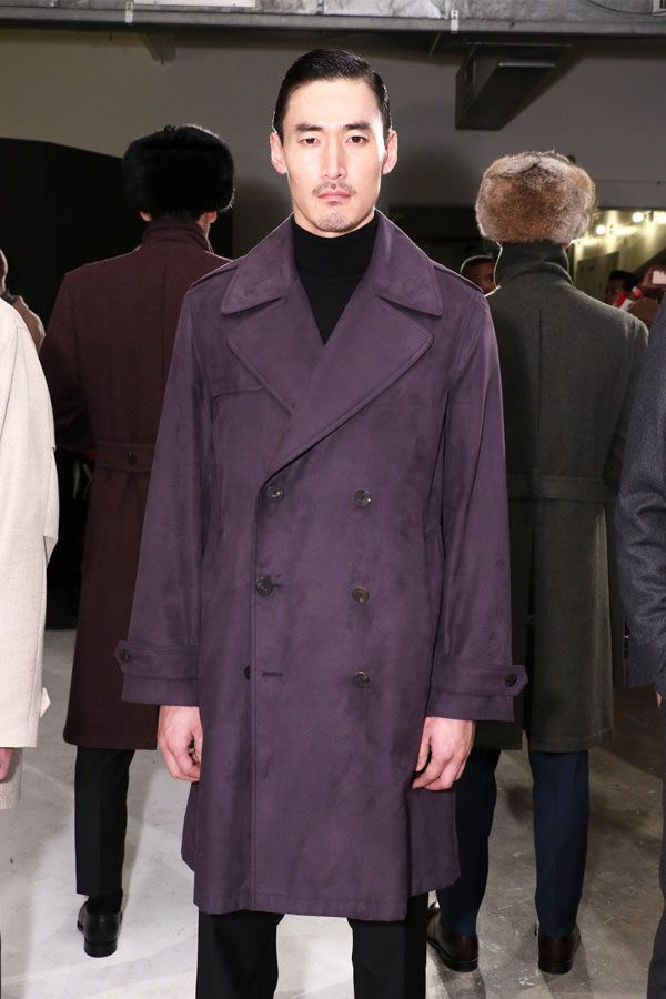 Outfit Peacoat In Purple Color #peacoat #menscoat