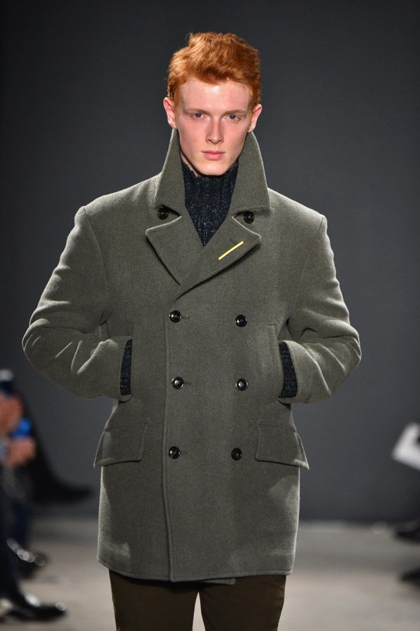 Outfit Peacoat In Sage Color #peacoat #menscoat