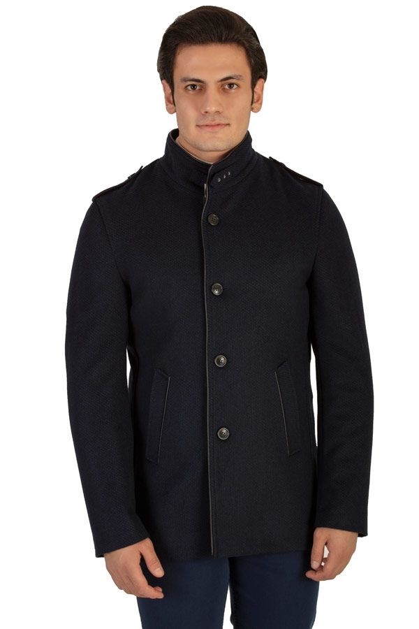 The Single-Breasted Peacoat #peacoat #menscoat