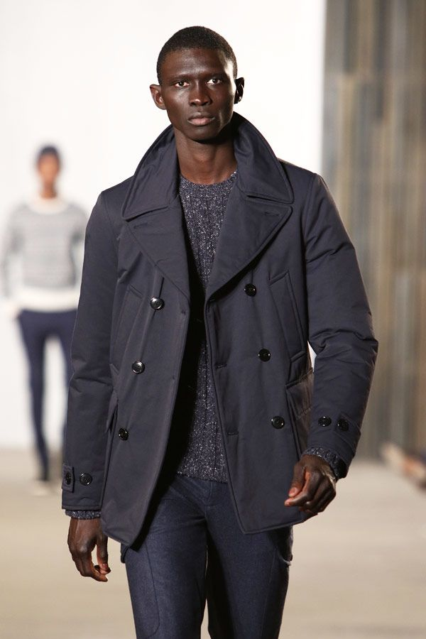 Outfit Peacoat In Slate Grey Color #peacoat #menscoat