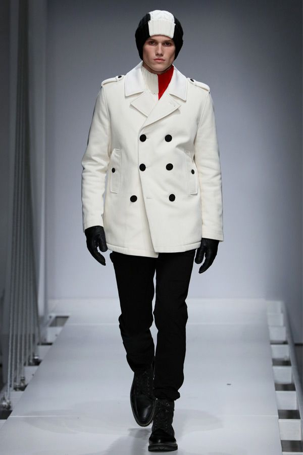 Outfit Peacoat In White Color #peacoat #menscoat