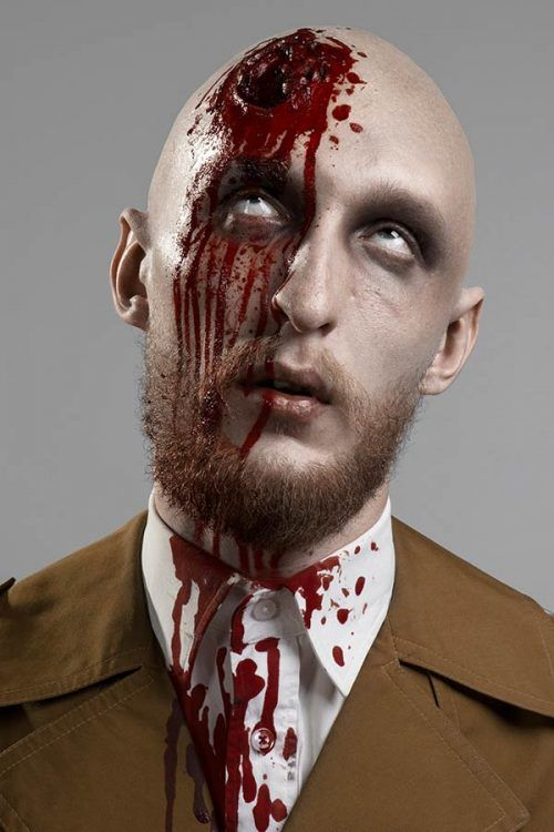 Man With A Broken Head #halloween #halloweenmakeup #halloweenmakeupmen