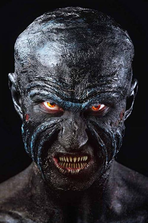 Monster #halloween #halloweenmakeup #halloweenmakeupmen