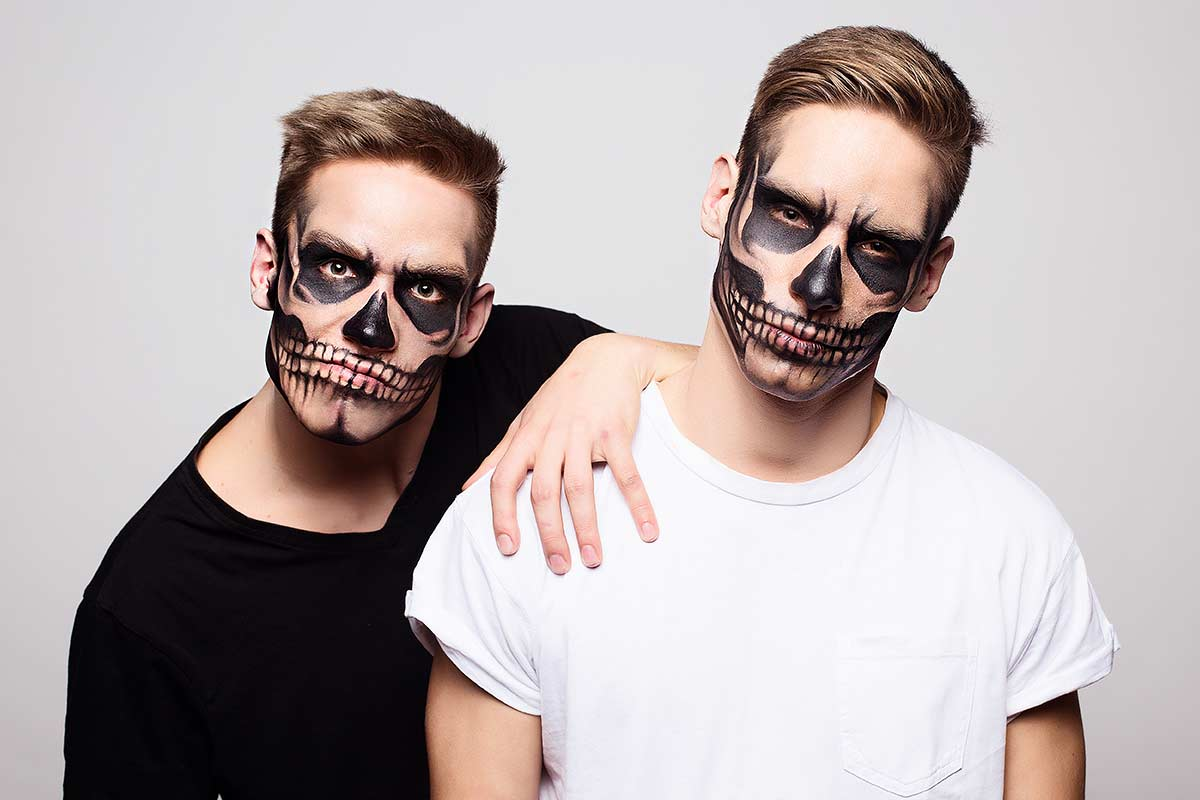 Really Simple Halloween Makeup For Men That You Can Copy Easy