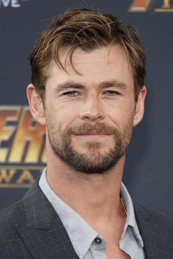 Chris Hemsworth Mustache And Beard #thorragnarokhaircut #chrishemsworth #thor #thorhair