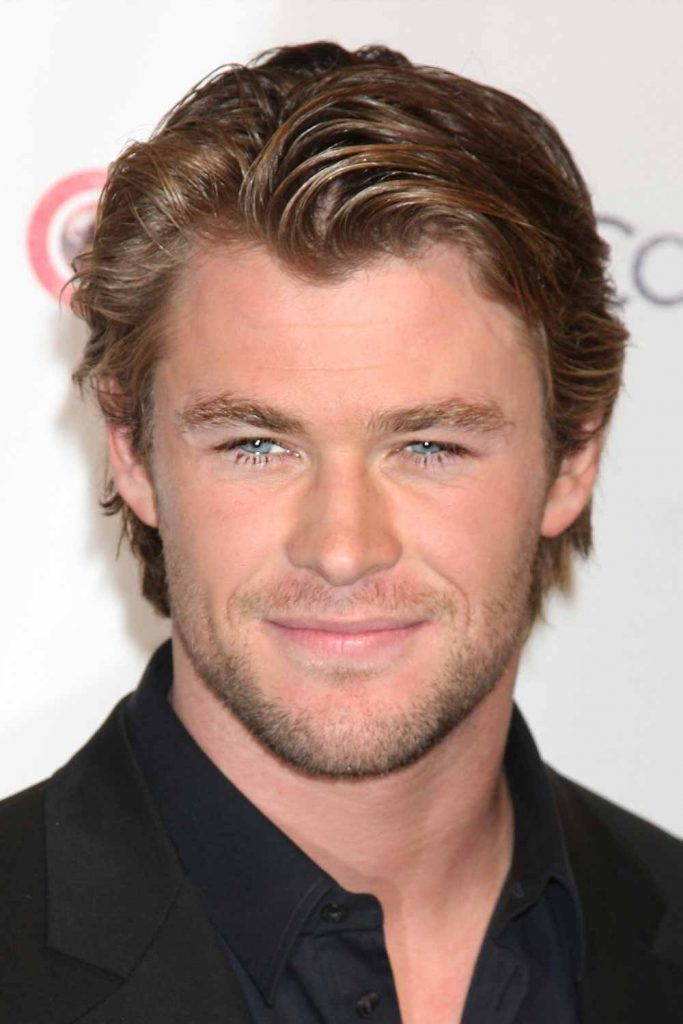 Side Swept Medium Hair #thorragnarokhaircut #chrishemsworth #thor #thorhair
