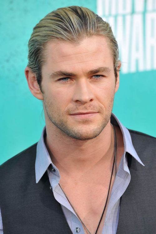 Slicked Back Hairstyle #thorragnarokhaircut #haircuts #chrishemsworth