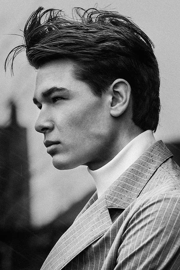 Messy 1950s Mens Hairstyles #50shairstylesmen #menshaircuts