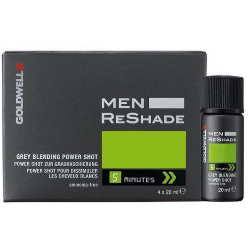 Goldwell For Men Reshade Grey Blending Power Shot (Cool Ash Light #menshairdye #dyehairmen
