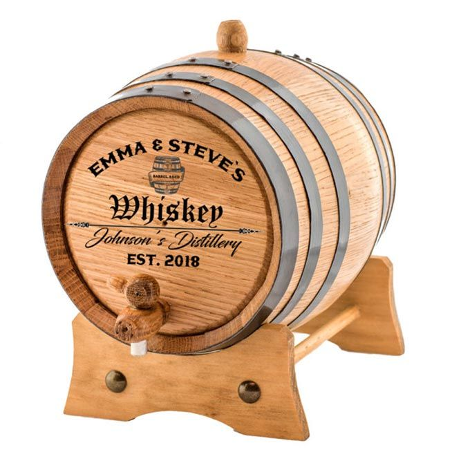 Personalized Whiskey Barrel #giftsformen #mensgifts