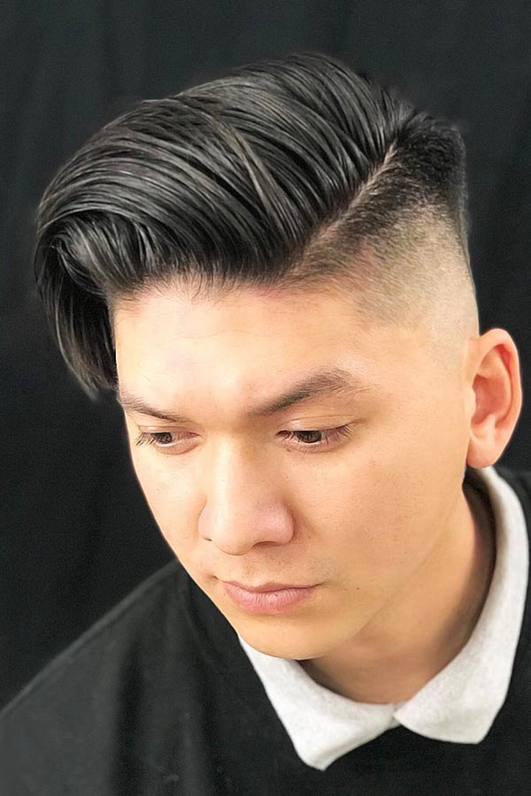 Messily Slicked Back Korean Hairstyle #koreanhairstyles