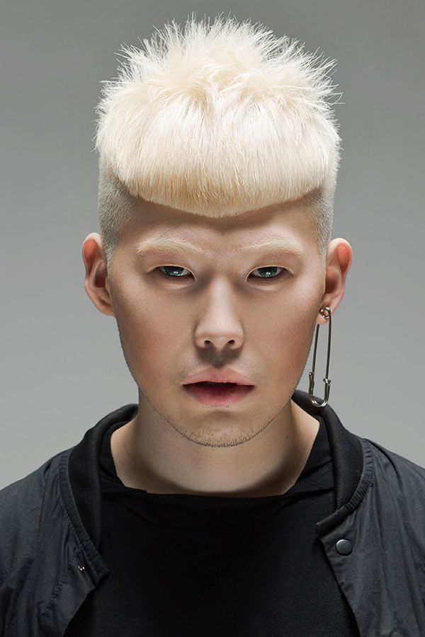 Tousled White Blonde Two-Block Haircut #koreanhairstyles