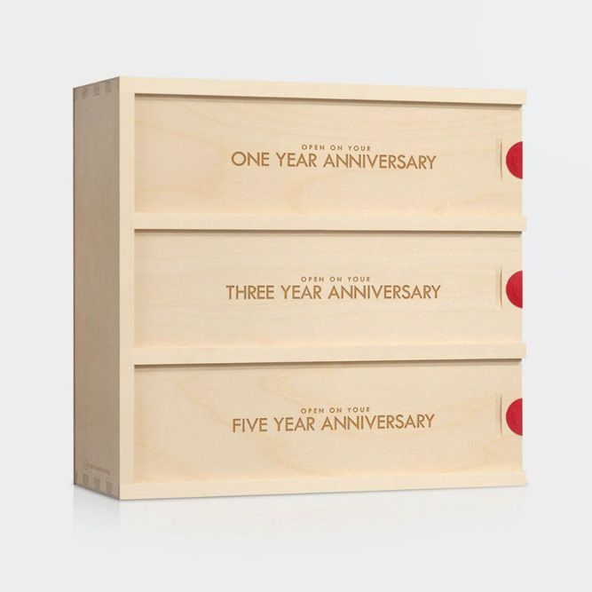 Anniversary Wine Box (Artificer Woodworks) #giftsforher