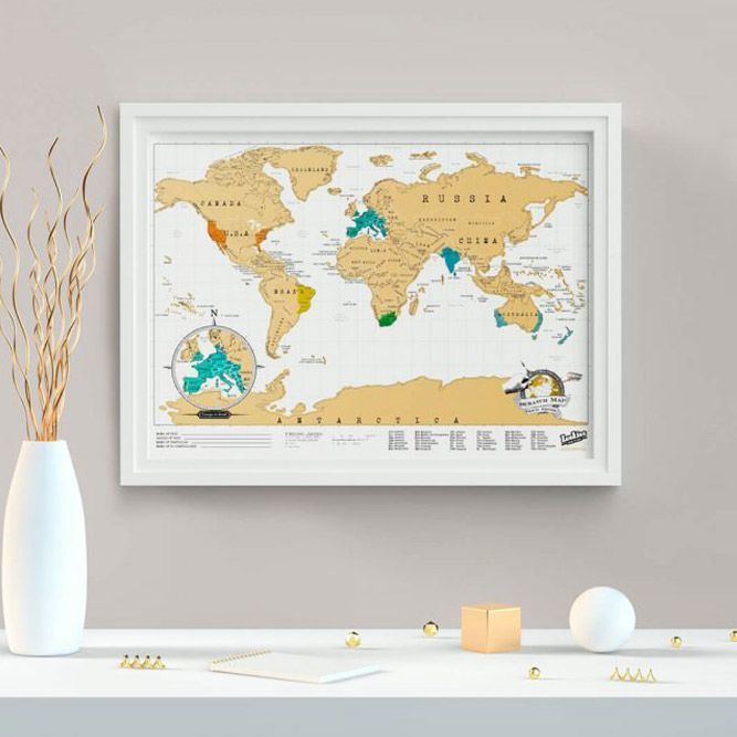 Travel Map (Scratch Map) #giftsforher