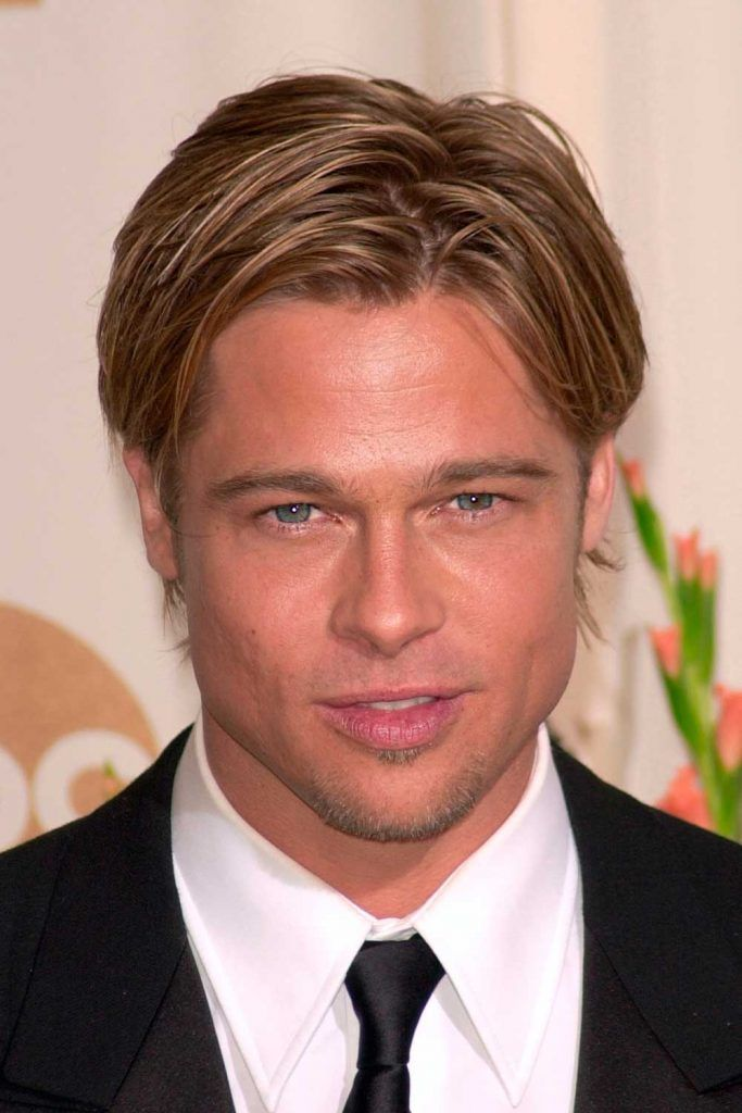 Brad Pitt Eboy Haircut #eboyhaircut #eboyhair #curtainshair #curtainshairstyles #middlepartmen