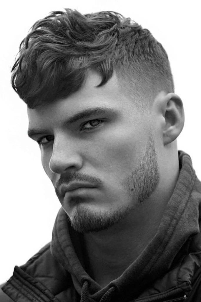 Wavy Side-Swept #fade #shorthaircutsformen #regularhaircut