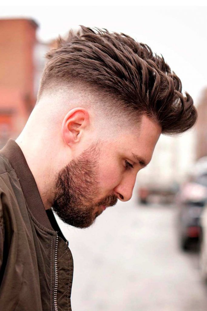 Brushed Back Hair #fade #shorthaircutsformen #regularhaircut