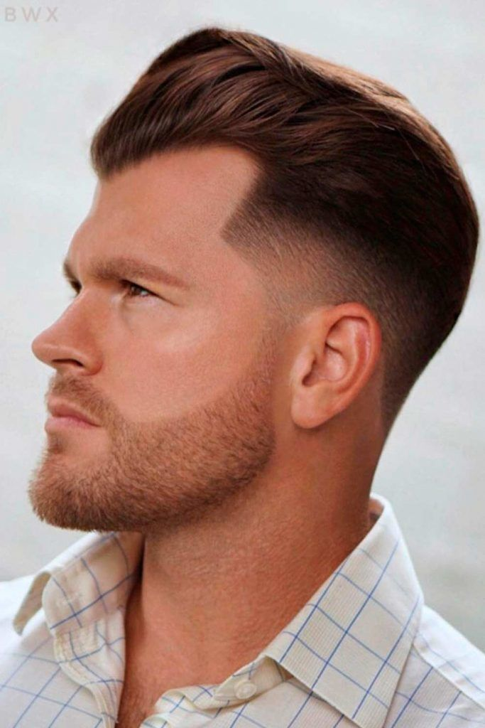 Pompadour with Tapered Sides #regularhaircut #pompadourfade