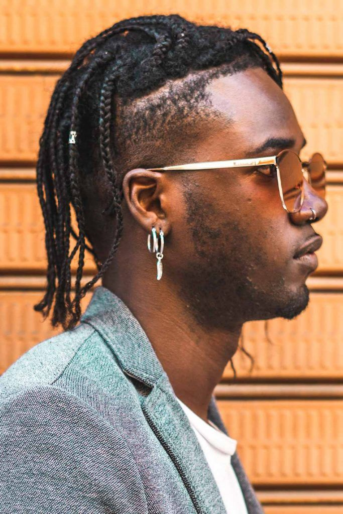 Box Braids And Undercut #blackmenhaircuts #haircutsforblackmen #blackhair #blackhaircuts