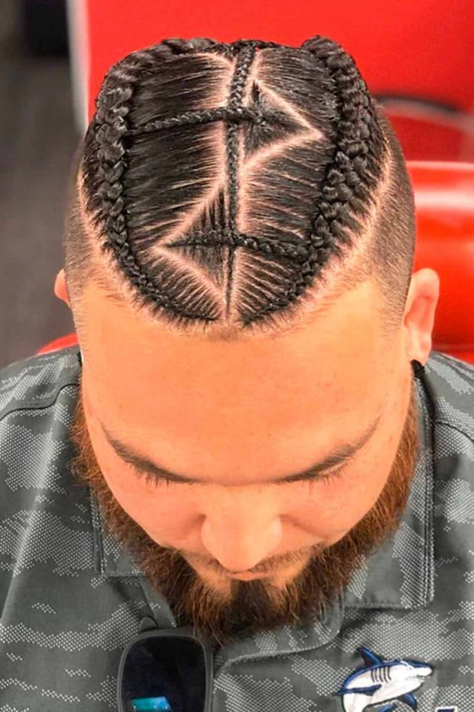 Braid's Pattern #cornrows #cornrowsmen #braidsformen #manbraid