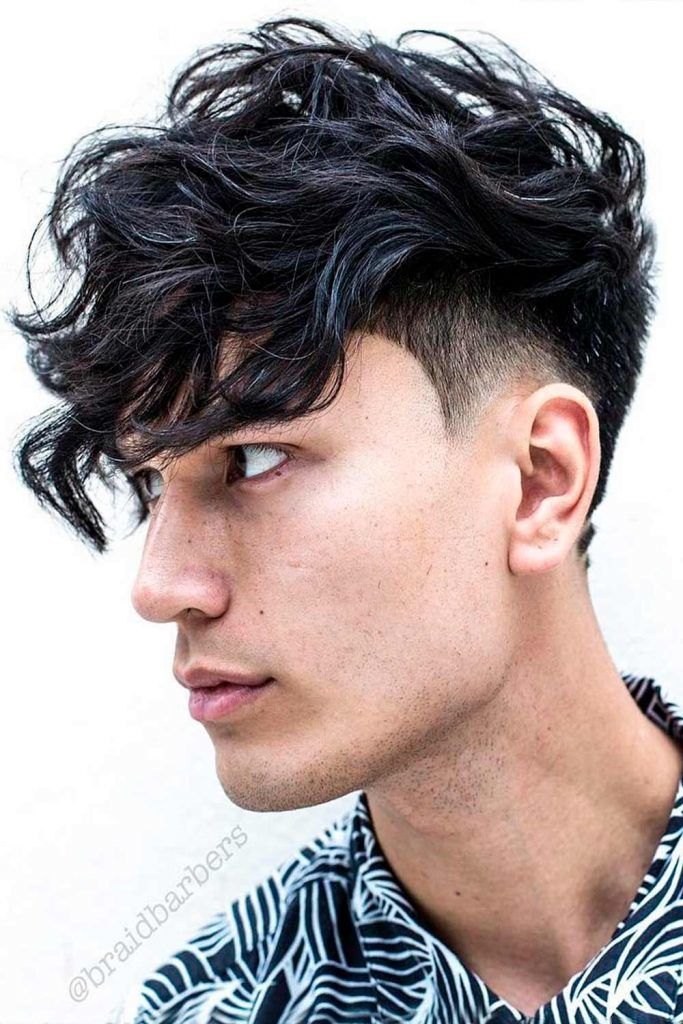 Flowy Fringe with Short Sides #fringehaircut #fringebangs #mensfringe